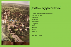 Tagaytay Penthouse Unit for Sale